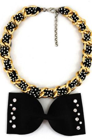 black Noriko Emmy necklace