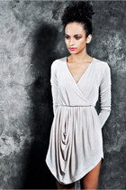 Beige-nikoo-dress