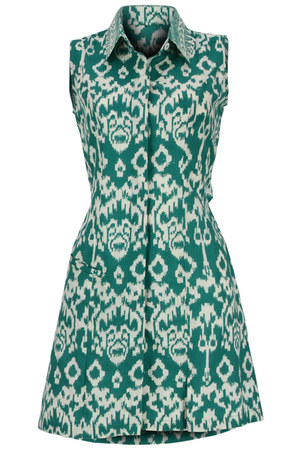 green cut out batik peek-a-boo dress