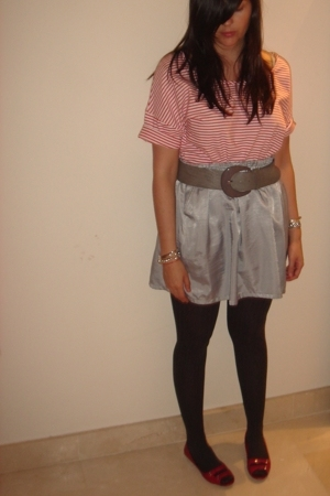 H&M t-shirt - H&M belt - Mango skirt - Primark shoes
