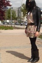 Criminal jacket - Zara dress - vintage boots - Sfera belt