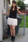 Black-rue-21-shoes-beige-rue-21-skirt-black-forever-21-shirt