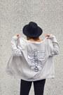 Silver-high-heels-suicide-cardigan