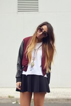 brick red TFNC LONDON jacket - white troll doll High Heels Suicide top
