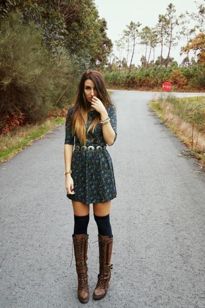 dark green Love dress