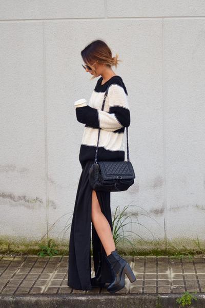 black asos sweater