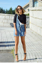 blue dungarees Sheinside jeans