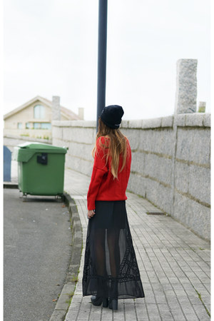 black High Heels Suicide hat - ruby red Zlz sweater