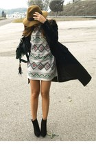 heather gray Weareselecters dress - black Zara boots