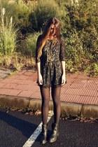 black Zara shoes - black Sugarlips dress