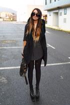 black hellbound UNIF shoes - black hooded Filthy Magic vest