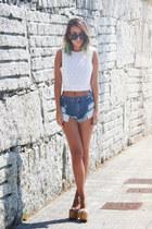 white Zara top