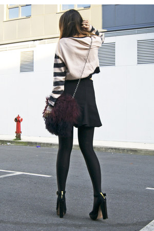 pink Pixie sweater - crimson Zara bag