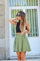 chartreuse Sheinside skirt