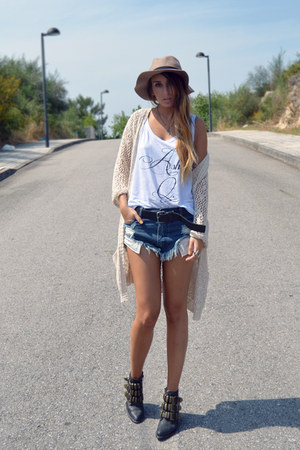 blue One Teaspoon shorts - black tripoli Jeffrey Campbell shoes