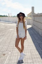 white Topshop shoes - white Sheinside shirt