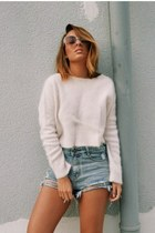 off white Zara sweater