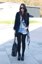 black asos shoes - navy Zara jacket