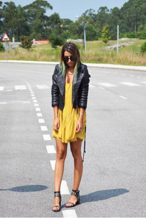 black Nasty Gal shoes - light orange One Teaspoon dress