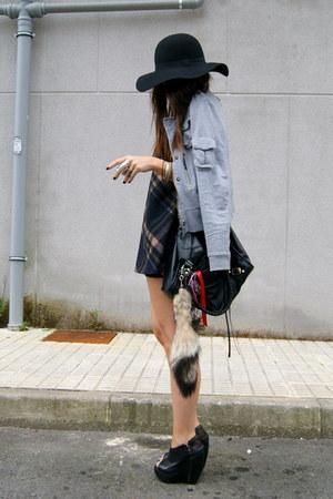 black curve asos shoes - navy DIY dress - heather gray Zara jacket