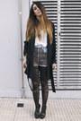 Heather-gray-leopard-diy-shorts