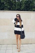 black H&M jumper - ivory Jeffrey Campbell heels