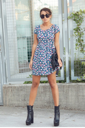 blue Bershka dress