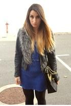 black studded Wholesale-Dress bag - navy Zara dress