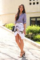 white skirt