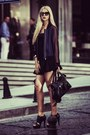 Navy-h-m-jacket-black-leather-balenciaga-bag-black-zara-skirt