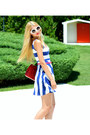 Chain-h-m-necklace-striped-h-m-dress-leather-chanel-bag-prada-sunglasses