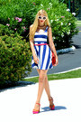 Striped-h-m-dress-leather-chanel-bag-prada-sunglasses