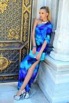 SIX necklace - sky blue Mango dress - Iceberg bag - Mango bracelet