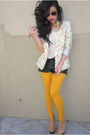 Purple-mac-accessories-white-hnm-top-gold-gap-tights-red-urban-outfitters-