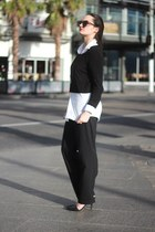 black cropped unknown sweater - white mens H&M blouse