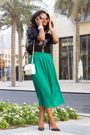 Forever New bag - Primark skirt - BCBG cardigan - Guess heels