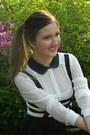 Choies-skirt-bershka-heels-zara-blouse-pull-bear-wallet