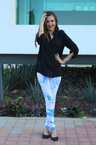 youreyeslie leggings - Pull & Bear shirt - Guess watch - Nine West flats