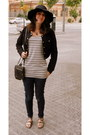 Silver-white-stripes-forever-21-dress-navy-levis-jeans-black-forever-21-hat-