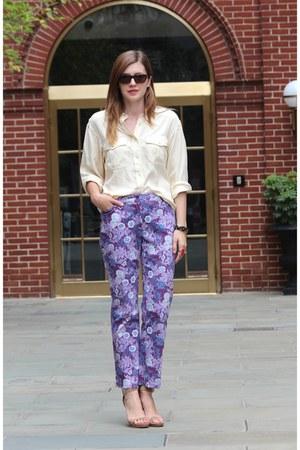 purple La Petite Marmoset pants - cream La Petite Marmoset blouse