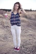 Topshop jeans - aztec print Topman top