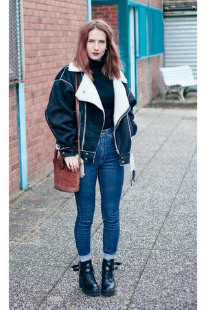 black PERSUNMALL jacket - navy American Apparel jeans