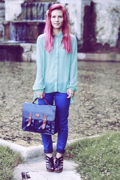 aquamarine Penneys shirt - blue Bershka pants