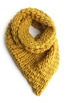 mustard knit poncho LYLIF scarf