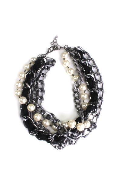 charcoal gray LYLIF necklace