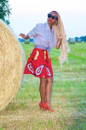 red asos heels