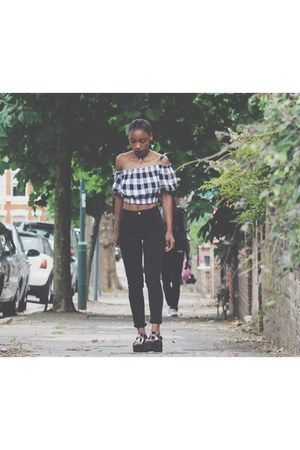 black asos top