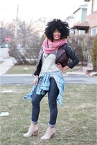 graphic tee Macys t-shirt - booties JCPenney boots - Payhalf jeans