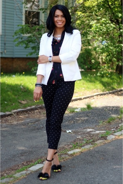 3aa7f0cbfb Kmart blouse - Gap blazer - Burlington coat factory necklace - JustFab watch