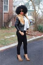 crochet Moda Salon Boutique top - skinny jeans H&M jeans